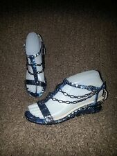 HOUSE OF HARLOW 1960-Chain & Leather Sandals-One of a Kind Sample-Sz 36-EUC