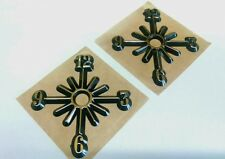 """2 Clock PARTIAL starburst numbers, gold hot stamped, self stick, NEW 3"""",USA made"""