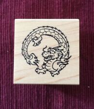 Mari & me Asian Dragon Rubber Stamp  Oriental Japanese Chinese