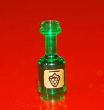 LEGO 95228pb02 Flask Flasche Figuren Zubehör Weinflasche Bottle transparent grün