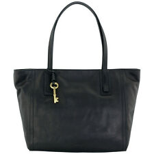 Fossil Emma Tote Large Black Leather Women's Handbag ZB6844001
