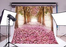 10x10ft Cherry Blossoms Street Poly Fabric Customized Backdrop CP Photography