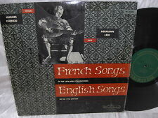 HUGUES CUENOD & HERMANN LEEB WESTMINSTER WL-5085 LP FRENCH & ENGLISH SONGS