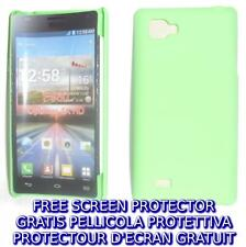 Pellicola+custodia BACK COVER VERDE rigida per LG Optimus 4X HD P880