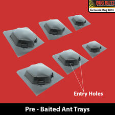 6PC ANT BAIT TRAYS INDOOR OUTDOOR CRAWLING INSECT REMOVER PRE BAITED TRAP