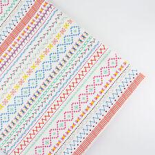 150x50cm Stitch patchwork linen cotton fabric table plain quilt DIY sew cloth