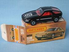 Lesney Matchbox Superfast 59 Porsche 928 Black Body Boxed