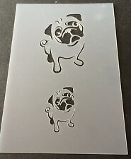 Pug Dog Mylar Reusable Stencil Airbrush Painting Art Craft DIY home