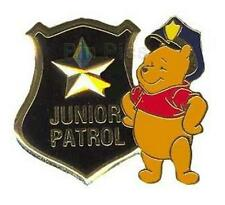 DISNEY STORE POOH POLICE OFFICER POLICEMAN JUNIOR PATROL STAR BADGE 2003 PIN