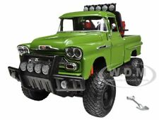 1958 CHEVROLET APACHE FLEETSIDE PICKUP TRUCK OFF ROAD GREEN 1/24 MOTORMAX 79135