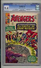 Avengers #13 CGC 9.4 NM Unrestored Marvel 1st Count Nefaria Fantastic Four cameo