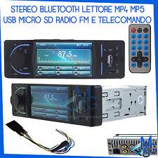 STEREO MP5 AUTORADIO BLUETOOTH TELECOMANDO RADIO FM AUX USB MICRO SD 1 DIN