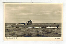 Mint Pre WW2 Germany Navy Real Picture Postcard U Boat 16 Submarine at Sea