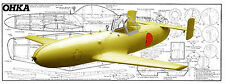 CONTROL LINE OHKA KAMIKAZE FLYING BOMB MODEL AIRPLANE PLANS + BUILDING NOTES