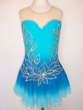 CUSTOM MADE NEW FIGURE ICE SKATING BATON TWIRLING DRESS COSTUME