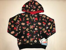 NWT $44 PAUL FRANK The collection hoodie jacket BOY size 6 black