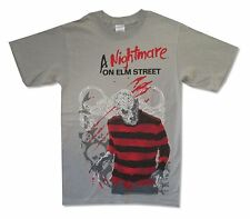 A Nightmare On Elm Street Striped Sweater Mens Grey T Shirt New Official Small S