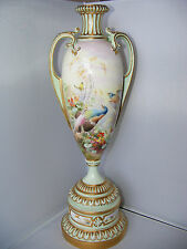 "Stunning Large 15.5"" Royal Worcester Handpainted Birds Vase by E Salter 1899"
