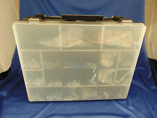 Plastic 2-sided tool box 25 compartments screws nails mollies hook eye hardware