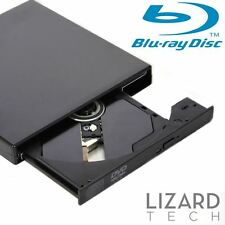 External USB 2.0 Blu Ray Drive Slim BD Reader DVD & CD RW Burner for Windows PC