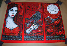 Jeff Wood Widespread Panic Halloween RED FOIL VARIANT Print uncut broomfield