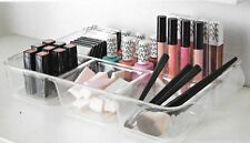 Clear Acrylic Make up Tray Box Organiser Cosmetic Display Storage Jewellery Case