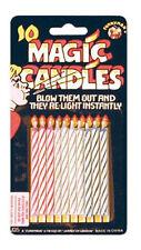 Confezione di 10 re-lighting Scherzo Magico Trucco compleanno torta candele