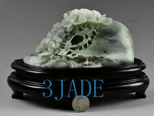 Natural Dushan Jade Stone Flower  Statue / Carving Sculpture