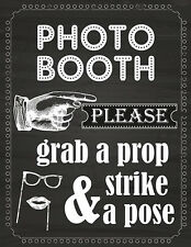 DIY DIGITAL Chalkboard Photo Booth sign props NO PHYSICAL ITEM