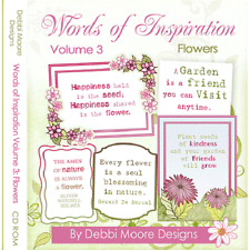 Debbi Moore Words Of Inspiration Volume 3 Flowers CD Rom (298348)