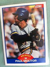 PAUL MOLITOR, Score #565; 1989 Brewers, ..FREE shipping USA