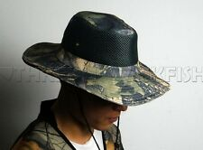 Hot! Vintage Camo Camouflage Hunting Hat Fishing Wide Hat Hiking Cap