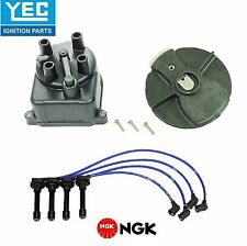 YEC&NGK Tune-Up Kit Cap Rotor Spark Plugs Wire Set for Acura Integra 1.8L 94-01