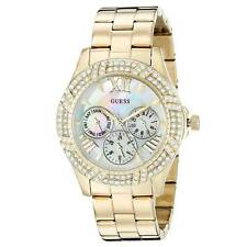 Guess U0632L2 Women's MOP Dial Yellow Gold Steel Crystal Watch