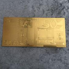 24k gold euro bankbote