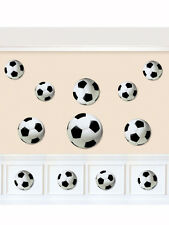 12 x Football Soccer Birthday Party Assorted Cut Out Decorations