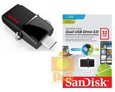 New SanDisk 32GB OTG Dual USB Drive 3.0 Flash Drive 130mb/s SDDD2-032G