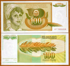 Yugoslavia, 100 Dinara, 1990, P-105, UNC   Woman