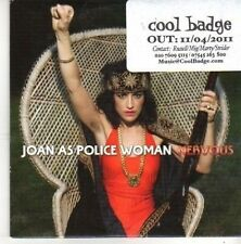 (BZ390) Joan As Police Woman, Nervous - 2011 DJ CD