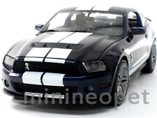 GREENLIGHT 12824 2010 FORD SHELBY MUSTANG GT500 GT 500 1/18 BLUE w WHITE STRIPES