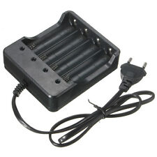 EU Plug 4 Slots Battery Charger for 18650 Rechargeable Li-Ion Battery