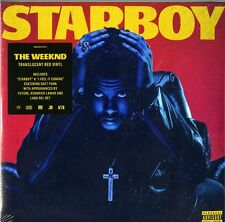 THE WEEKND STARBOY DOPPIO VINILE LP TRANSLUCENT RED VINYL NUOVO SIGILLATO