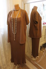 1970s brown metallic knit dress & jacket - Ditsy Vintage 16 - 20s 30s style
