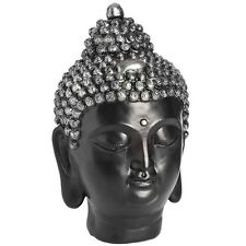 DARK Buddha Testa Ornamento-ETNICA scultpture ART HOME Interior Arredamento Accessorio