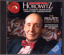 Vladimir HOROWITZ: THE PRIVATE COLLECTION Volume 1 Bach Clementi Chopin Liszt CD
