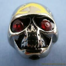 Chrome demon skull knob for electric or bass guitar with fixing grub screw scull