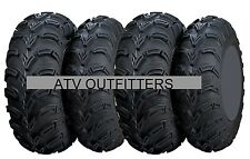 "FOUR ITP MUD LITE 25"" ATV UTV TIRES SET OF 4 25x8-12 front 25x10-12 rear 6 PLY"