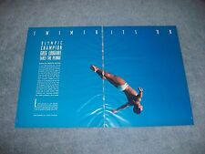 Olympic Gold Medalist Diver Greg Louganis Article Pictorial Clippings