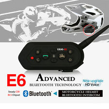 1 x Bluetooth Motorcycle Helmet Interphone Intercom Headset 6 Riders 1200M E6