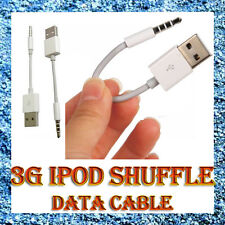 White USB Charger/Data/Sync Charging Cable for iPod Shuffle 3 rd 6g 5 Generation